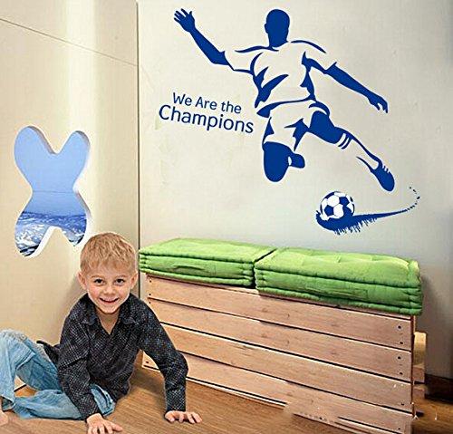 We Are The Champions Calcio parete in pvc adesivo rimovibile in salone camera da letto Cucina Art Picture Murals Sticks finestra porta decorazione + 3d rana regalo adesivo per