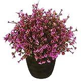 vgia Home Decor Violet Fleurs Artificielles Retro Plante en pot, en plastique, mini Arbre., Small
