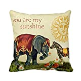 Best Malouf Latex Pillows - CoolDream You are My Sunshine Square Throw Pillow Review