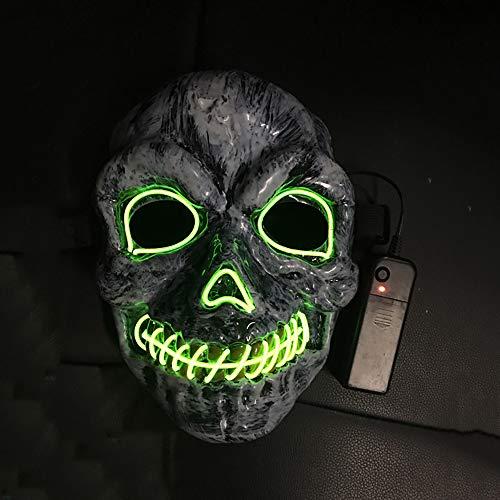 Halloween LED Masken, schreckliches Kostüm für Halloween Cosplay Karneval Parteien Powered Battery (nicht im Lieferumfang enthalten) (Themen Für Kostüm Parteien)