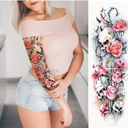 EROSPA® Tattoo-Bogen temporär - Oberarm / Unterarm - Frauen / Männer Wasserfest