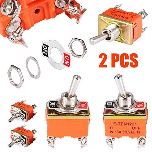FTDDFJAS 2pcs AC 250V 15A Amperios Interruptores palanca