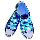 fourHeart LED Schnürsenkel 3 Lichtmodi +++ leuchtende Schuhbänder +++ 100...