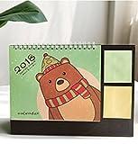 babasm Creative 2018Cartoon Bear Desktop Flip Kalender Monat zu View Stand Up Office Home Tisch Planer Kalender Notebook (grün)