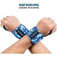 Earwaves ® - Muñequeras Crossfit Ideales para Calistenia, Halterofilia, Weightlifting, Deadlifting, etc. Par de muñequeras Deportivas para Hombre y Mujer.