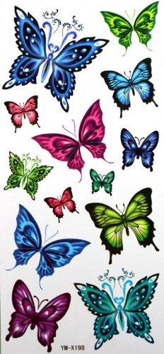 Étanches autocollants de tatouage sexy mobile papillon
