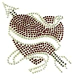 b2see Strass Bügel-Motiv Bügel-Bild Strass Bügel-Applikation Bügel-Sticker-Ei Aufbügler Strass-Motive zum aufbügeln waschbare Qualität Herz und Pfeil 10 x 10 cm