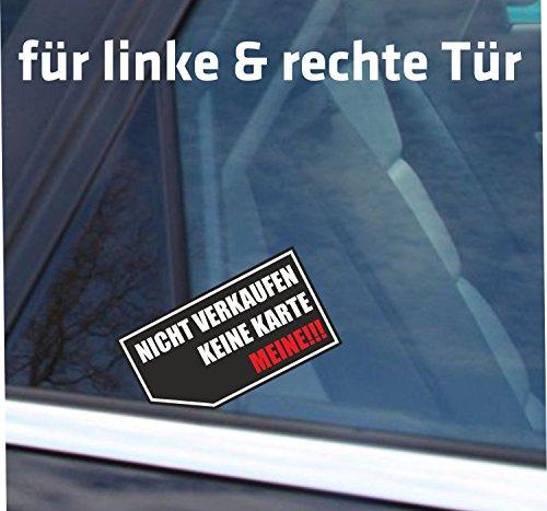 INDIGOS UG - Aufkleber / Autoaufkleber nix 'NICHT VERKAUFEN - KEINE KARTE - MEINE' gegen nervige Autoaufkäufer - schwarz rot - 2'er Sparset -...