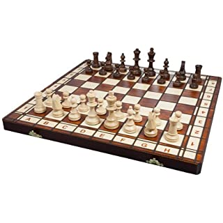 Albatros 2478–Castile Wooden Chess Game 42x 42cm [Imported from Germany]