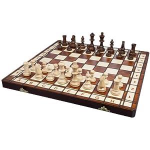 Albatros Schachspiel CASTILLA, Feldgröße 42 x 42 cm, Handarbeit aus Holz