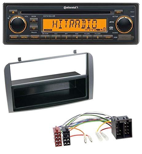 caraudio24 Continental CD7416U-OR USB AUX CD MP3 1DIN Autoradio für Alfa Romeo 147 GT Ablagefach anthrazit