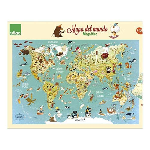Vilac Map of the Magnetic World 76x50x1 2720S