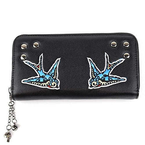 Preisvergleich Produktbild Banned Damen XL Geldbörse - Schwalben Rockabilly Portemonnaie