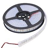 XKTTSUEERCRR 5M(16.4 ft)Ruban à LED 3528 Imperméable 1200 LED (Double Rangée)Strip Bande Lumineux 12V étanche IP67 pour La Maison et La Décoration Partie-Blanc Froid