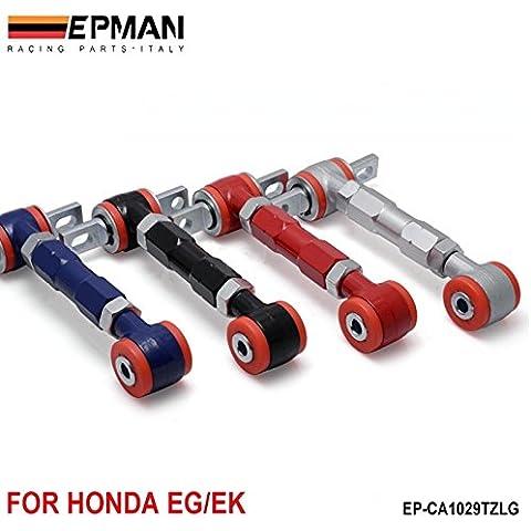 pygex (TM) epman New Racing posteriore regolabile Camber armi Kit per 88–01Honda Civic (default) ep-ca1029tzlg-rd, colore: rosso