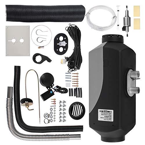 HODOY Riscaldatore digitale 5KW Termostato diesel Riscaldatore elettrico 12V Riscaldatore elettrico a gas per camper Camper e autobus (12V 5KW con voce)
