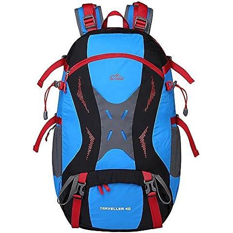 A new day-Viaggio all'aperto di grande capacit¨¤ borsa a tracolla uomini e donne impermeabile sport alpinismo borsa zaino , blue - Camelbak Bambini Zaino