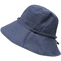 Lonshell_Damen Cap Elegent Sonnenhut Strandhut Faltbar Baumwolle Fishermütze Cannabis Muster Mütze Fischerhüte Nepalesische Kappe mit Breite Krempe Outdoor-Hut Bucket Hat für Damen