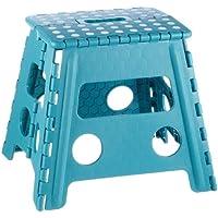 Zeller 99167 Tabouret pliant Plastique Turquoise 37 x 30 x 32 cm