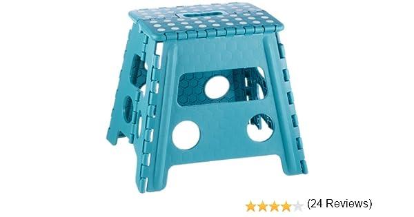 Zeller sgabello plastica blu cm amazon casa