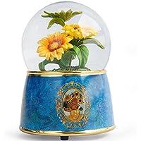 Preisvergleich für Baby-lustiges Spielzeug Van Gogh Kreative Kristallkugel Spieluhr Harz Handwerk Ornamente Für Geburtstagsgeschenk-Sonnenblume