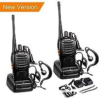 Baofeng bf-888s Funkgerät, Walkie-Talkie 16 Kanäle Funksprechgerät Dual-Band Zweiwege CTCSS 400-470MHz (1 paar, Schwarz)