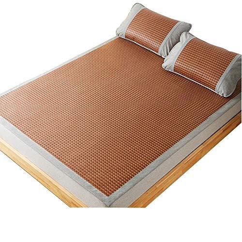 LI MING Shop Mat 1,2-1,5 m Bett Falten natürliche Reine Rebe Ice Silk Mat Mat Erwachsene/Kinder/ältere Menschen verwenden können (Size : 150x200cm) - Natürliche Reben-teppich