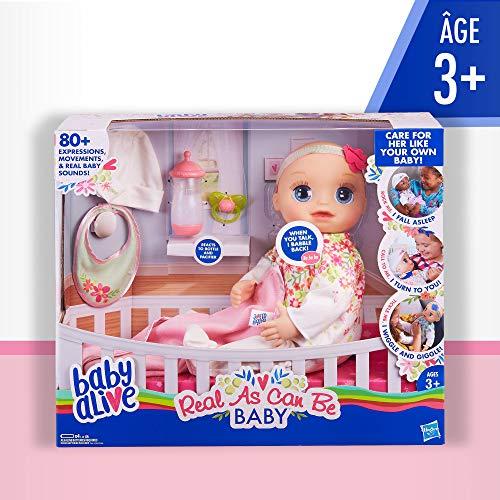 Hasbro E2352ES0 Baby Alive Mein kleines Wunder, interaktive Babypuppe mit lebensechten Funktionen