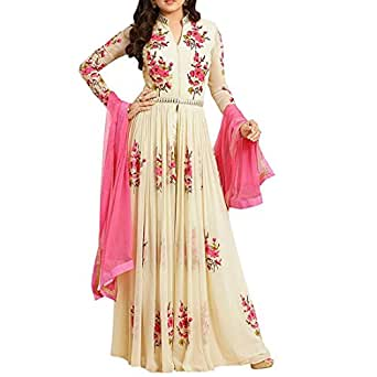 Salwar Soul Women's Georgette Dress Material (Salwar_EA10605_Cream_Free Size)