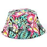 SHengyan lobenswerte süße Floral Bucket Hat Beanie Flache Jagd Angelkappe für Frauen Mädchen Outdoor Sommer Sonnenhut(None M 5)