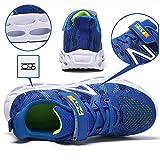 HSNA Scarpe Sportive per Bambini Traspirante Scarpe da Corsa Assorbimento d'urto Sneakers Ragazzo (Blu 29 EU)