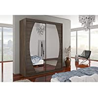 JUSTyou Baltimore Armoire Penderie Garde-Robe Portes coulissantes (HxLxl): 215x180x58 cm Couleur: Choco