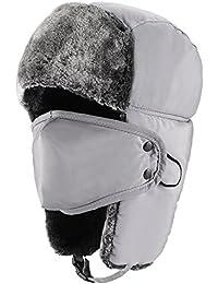 Colleer Wintermütze mit Ohrenklappen, Fellmütze, Kunstfellmütze, Fliegermütze, Unisex Klassische Trappermütze, hält warm beim Skifahren, Schlittschuhlaufen und Anderen Outdoor-Aktivitäten 6 Farbe