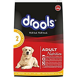 Drools Adult Dog Food, Chicken and Egg, 400 g (Buy 2 Get 1 Free)