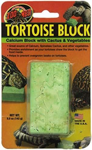 Zoomed Tortoise Block Calcium au Cactus pour Reptile/Amphibien 142 g