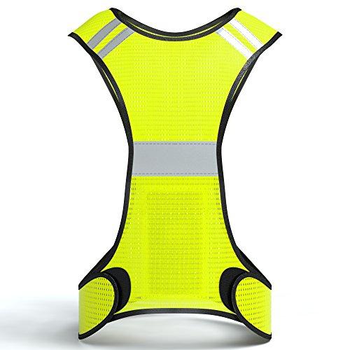 Reflektorweste, Sicherheitsweste, flexibel einstellbar I Warnweste mit Reflektoren, atmungsaktiv I reflektierende Weste, ideal zur Erhöhung der Sichtbarkeit im Straßenverkehr, von EAZY CASE, Neon Gelb (Reflektierende Sicherheits-weste)