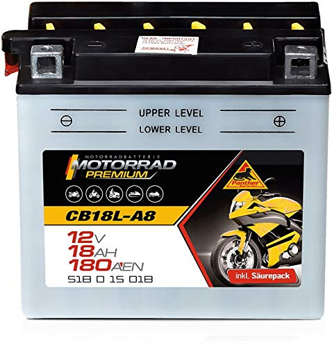 Batteria per moto Premium, 12 V, 18 Ah