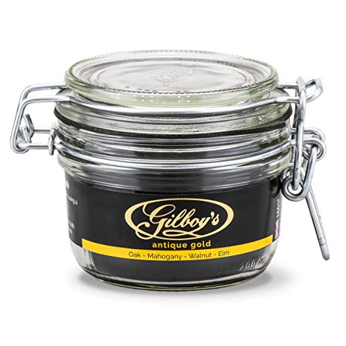 Gilboys 'Antique' Dark Beeswax Polish for Antique Wood and Vintage Furniture (125ml) - Best for Dark Oak, Mahogany, Walnut and Elm