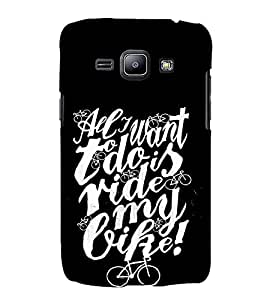 FUSON Want Ride My Bike 3D Hard Polycarbonate Designer Back Case Cover for Samsung Galaxy J1 (2015) :: Samsung Galaxy J1 4G (2015) :: Samsung Galaxy J1 4G Duos :: Samsung Galaxy J1 J100F J100Fn J100H J100H/Dd J100H/Ds J100M J100Mu