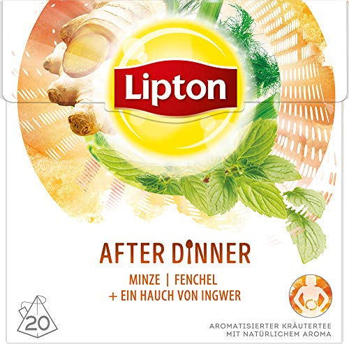 Lipton Kräutertee After Dinner Pyramidenbeutel 20 Stück, 3er Pack
