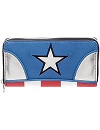 Womens officiel Marvel Captain America Zip autour d'embrayage sac à main pochette - dames
