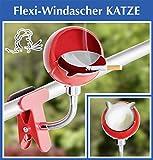 Wenko Flexi del vento Ascher Gatto–Posacenere con coperchio–Posacenere per sigarette–zigarretten Posacenere per balcone o terrazza–Tempesta Posacenere–Ringhiere Posacenere