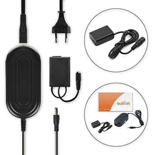 subtel Fuente de alimentación Sony Alpha 6000 (A6000), A6300, A6500, Alpha 5000 (a5000), A5100, Alpha 7 (A7), Alpha 7 II (A7II), A7s, Sony RX10 III, NEX-5, Cyber-Shot DSC-RX10, SLT-A37 (A37), A35, A33 - ca. 4m, AC-PW20, 7.6V cable de corriente