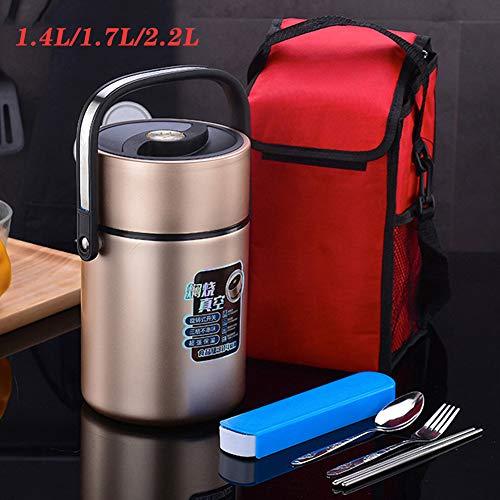 HWZZ Thermobehälter Warmhaltebox | Premium Isolierbehälter Box für Warme Speisen,Essen, Suppe | Perfekter Edelstahl Isolier Behälter,1.4L