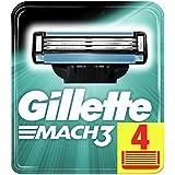 Gillette Mach 3 Manual Shaving Razor Blades - 4 Cartridges