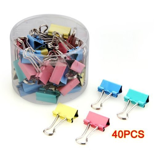 40pcs 19mm Colored Binder Clips ...