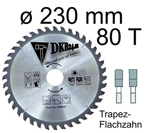 DKB Kreissägeblätter HM Kreissägeblatt 100 mm bis 400 mm 24 Zähne - 120 Zähne Hartmetall (230 mm / 80 Zahn - TFZ)