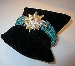 Idea Regalo - Aquilegia silver & zaffiro braccialetto