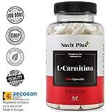 L CARNITINA-Navit Plus. Complemento alimenticio natural para la pérdida de peso y potente quemador de grasa deportivo. Gana mayor aporte de energía y resistencia.Aminoácidos deportivos. 120 cápsulas.
