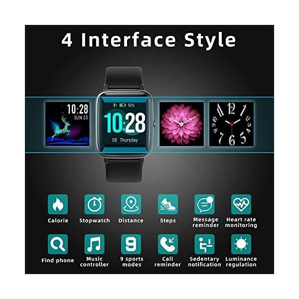 LIFEBEE Smartwatch, Reloj Inteligente Impermeable IP68 para Hombre Mujer niños, Pulsera de Actividad Inteligente con… 3